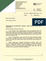 Penangguhan Kursus I-Think Dalam Talian - KiDT 2014