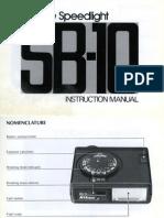 Nikon SB-10 Flash manual