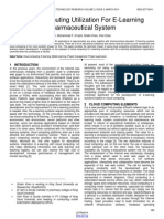 Cloud Computing Utilization for E Learning Pharmaceutical System