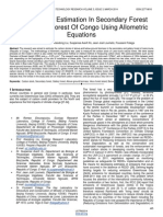 Carbon Stock Estimation in Secondary Forest and Gallery Forest of Congo Using Allometric Equations