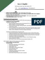 leadership resume 2014