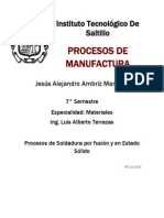 Manufactura Procesos de Soldadura