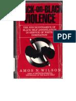 Black on Black Violence Amos Wilson