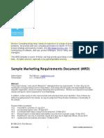MRD Sales Document