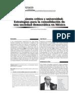 Pensamiento crítico y universalidad, estrategias para la consolidación de una sociedad democrática en México.pdf