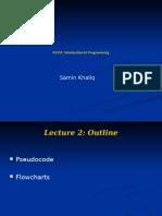 lecture 2 pseudocode flowcharts