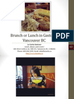 Brunch or Lunch in Gastown Vancouver British Columbia