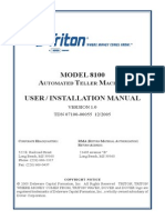 Triton 8100 user manual installation