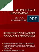 Anemias microciticas e hipocromicas