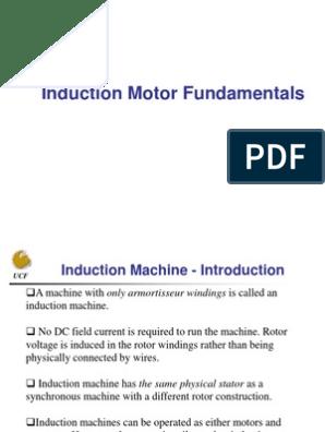 Induction Motor Fundamentals pdf | Electromagnetic Induction