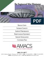 AMACS Mist Eliminator Brochure