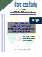 SESIONES ENTRENAMIENTOS sub-21.doc