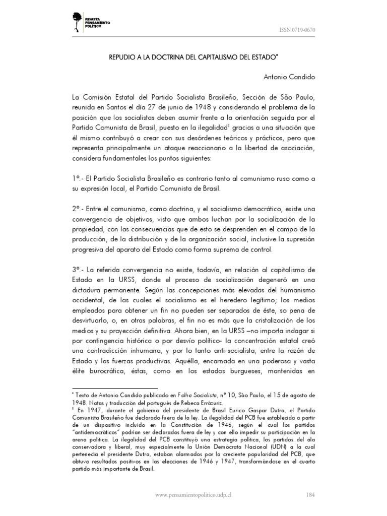 18 CANDIDO_Repudio a la doctrina del capitalismo del Estado pdf