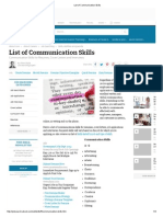 List of Communication Skills