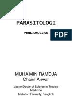 [PARASITOLOGI] IT 4 - Pendahuluan Parasitologi - CHA