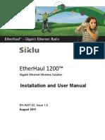 Siklu EH-1200 Install & User Manual - EH-InSTL-02_Issue1