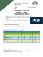 Cover Letter Sales Report 2014 April
