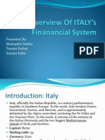 An Overview of ITALY's Finanancial System