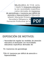 ORDEN FORAL 65-2012 -TA y TDA (atera zuten agindu berria).ppt
