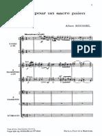 Roussel - Fanfare Pour Un Sacre Pa en Score