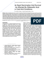 Studies on Apple Seed Germination and Survival of Seedlings as Affected by Gibberellic Acid Under Cold Arid Conditions