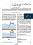 Structural Analysis of Dual Submarine Pipelines During Laying
