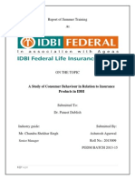 A Study of Consumer Behaviour in Relation to Insurance Products in IDBI Federal Life