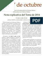 17 de Octubre – Nota Explicativa 2014 Spanish Español