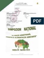 0 1 Simpozion National o Viata Sanatoasa Printro Alimentatie Adecvata Editia III 2014
