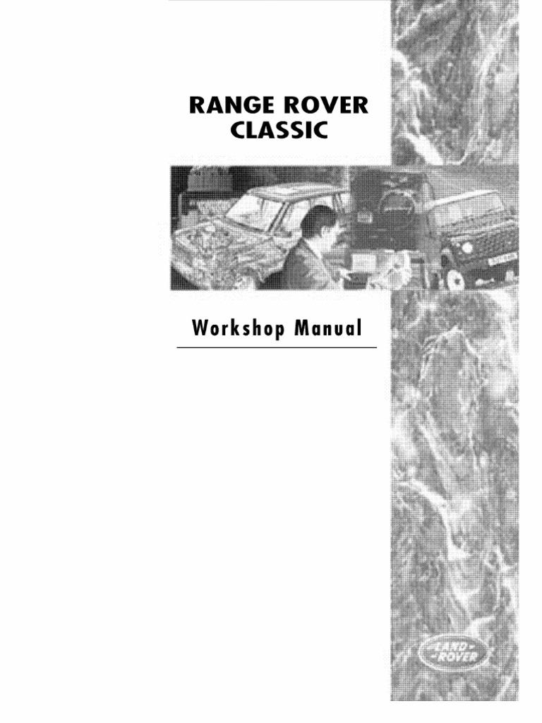 2004 Range Rover Fuse Box Wiring Library 4000 V 8 Diagram Workshop Manual L322 Internal Combustion Engine Piston