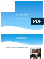 vocabulary european explorers unit 2