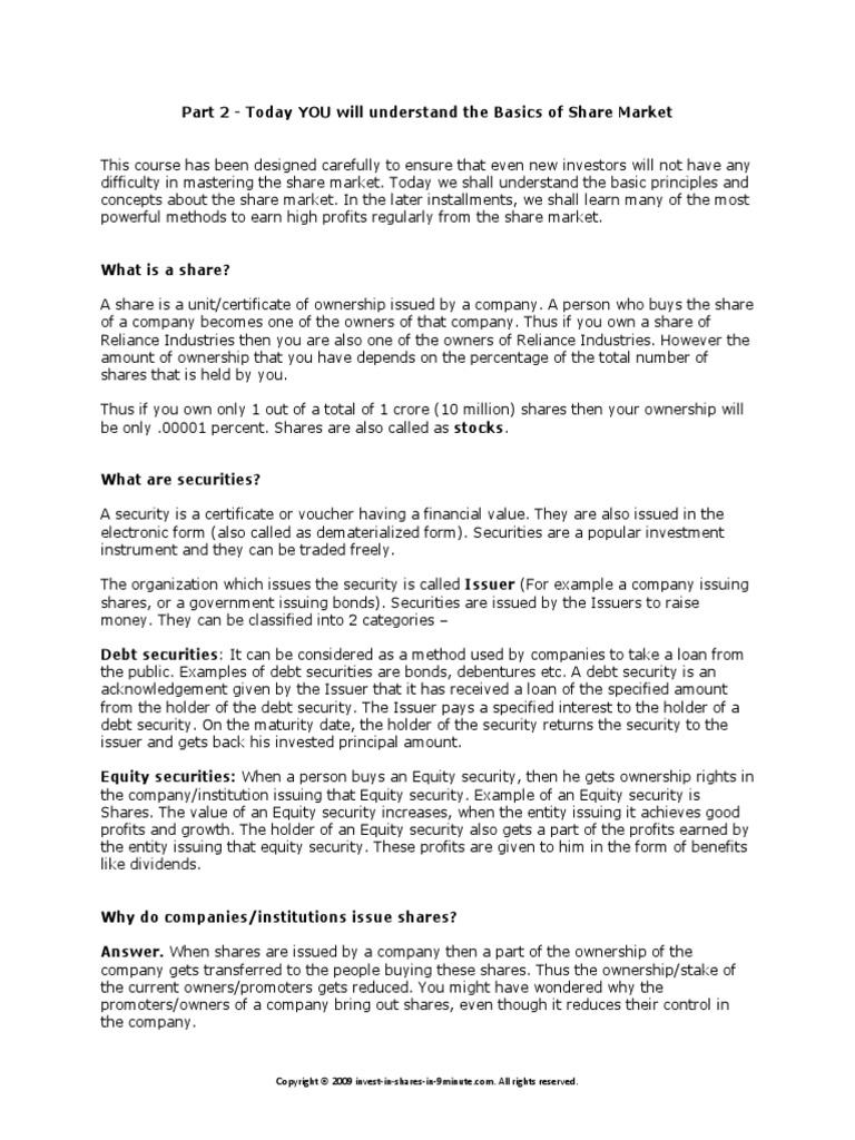 Expert Course2 Preferred Stock Securities Finance