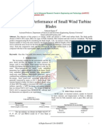 Analysis and Performance of Small Wind Turbine Blades