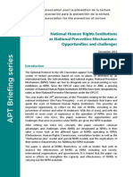 National Human Rights Institutions as National Preventive Mechanisms