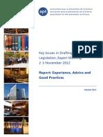 Key Issues in Drafting Anti-Torture Legislation, Expert Meeting 2-3 November 2012 Report