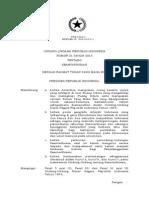 Undang Undang Nomor 21 Tahun 2013 tentang Keantariksaan