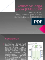 Reaktor Alir Tangki Berpengaduk (RATB)