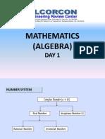Day 01 - Algebra 1