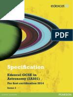 GCSE Astronomy Spec 2012