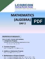 Day 02 - Algebra 2