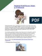Cara Menghilangkan Kutil Secara Alami Dengan Resep Tradisional
