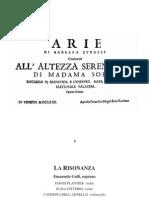 Barbara Strozzi Arie Cantate Opera Ottava
