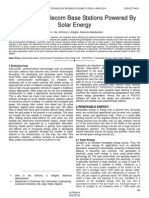Analysis of Telecom Base Stations Powered by Solar Energy