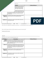goal progress worksheet