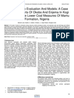 Coal Resource Evaluation and Models a Case Study From Parts of Okobo and Enjema in Kogi State Within the Lower Coal Measures of Mamu Formation Nigeria