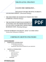 Corporat Level Strategy
