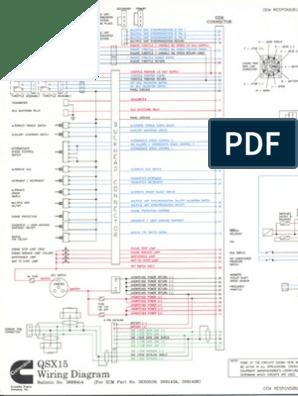 diagrama qsx15.pdf | Throttle | Vehicle Parts on