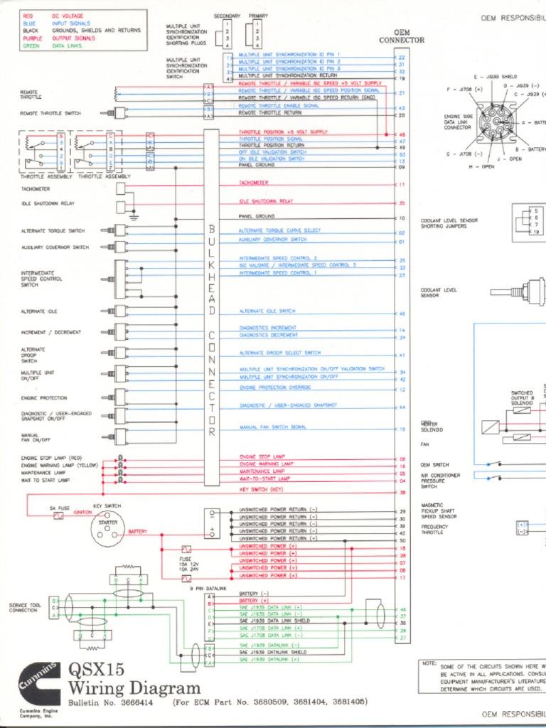 diagrama qsx15 pdf throttle vehicle parts rh scribd com Cummins QSX15 Service Manual wiring diagram cummins qsx15