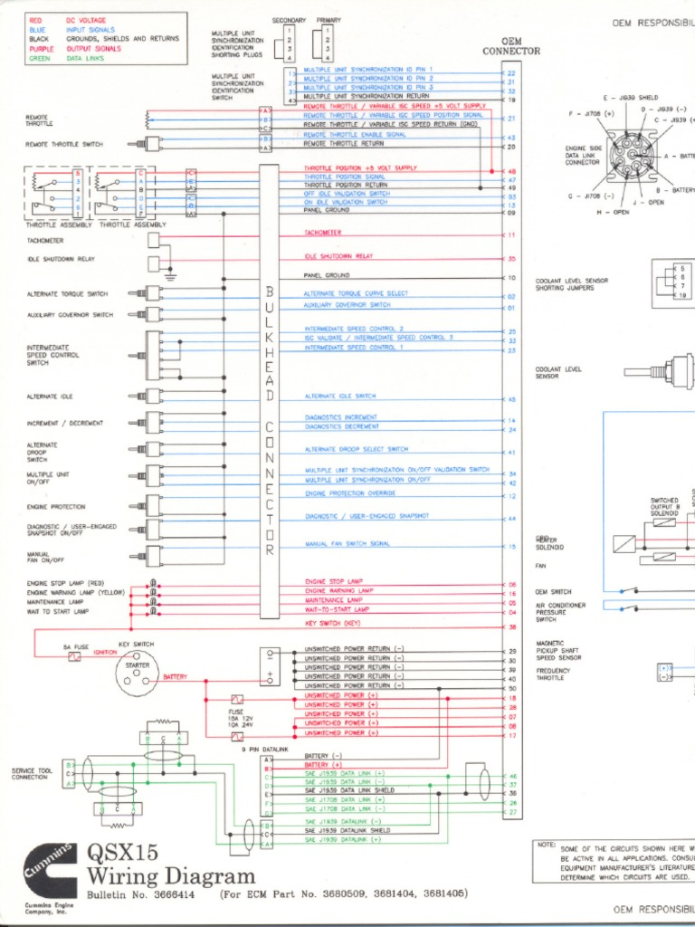 diagrama qsx15 pdf throttle vehicle parts rh scribd com Cummins QSX Eng Cummins QSX Eng