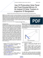 More Efficient Use of Photovoltaic Solar Panel Using Multiple Fixed Directed Mirrors or Aluminum Foils Instead of Solar Trackers in Rural Perspective of Bangladesh